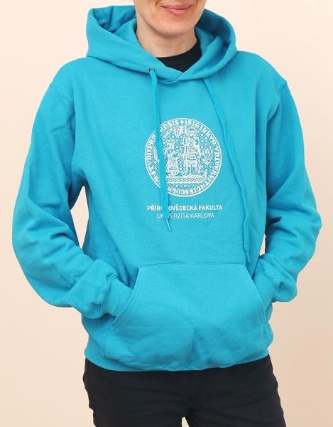b9cb11555aa Mikina Přírodovědecká fakulta UK. Mikina s kapucí Materiál 80% bavlna a 20%  polyester ...