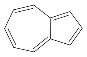 alt: Vzorec aromatického uhlovodíku azulenu.