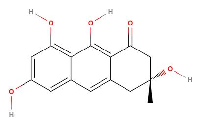 alt: Zelené zbarvení některých pavučinců způsobuje sloučenina (*3R*)-atrochryson.